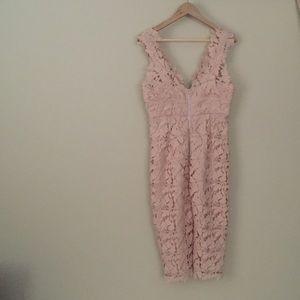 NWOT Bardot lace pink dress, floral- size 8/M
